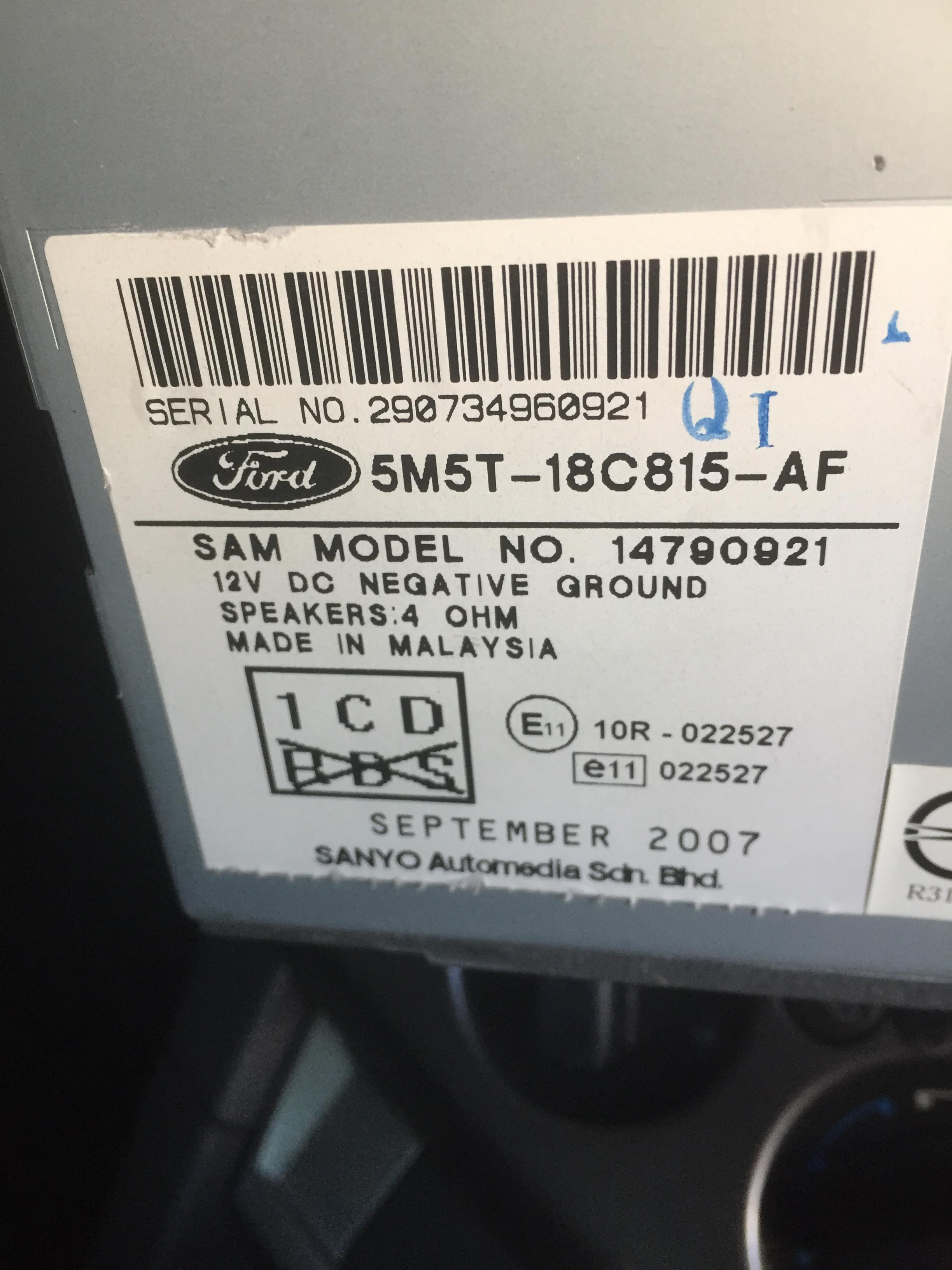 1639x found in owners manual of f150 2004