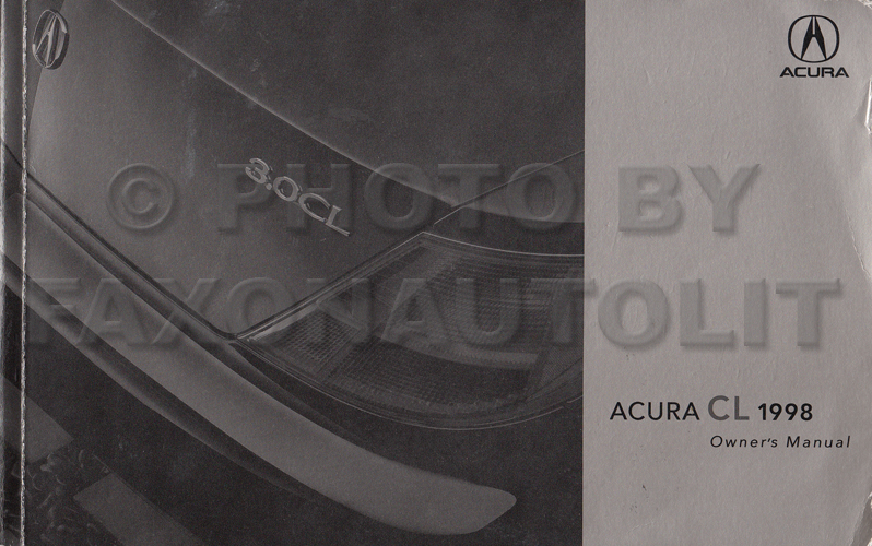 1998 acura cl owners manual