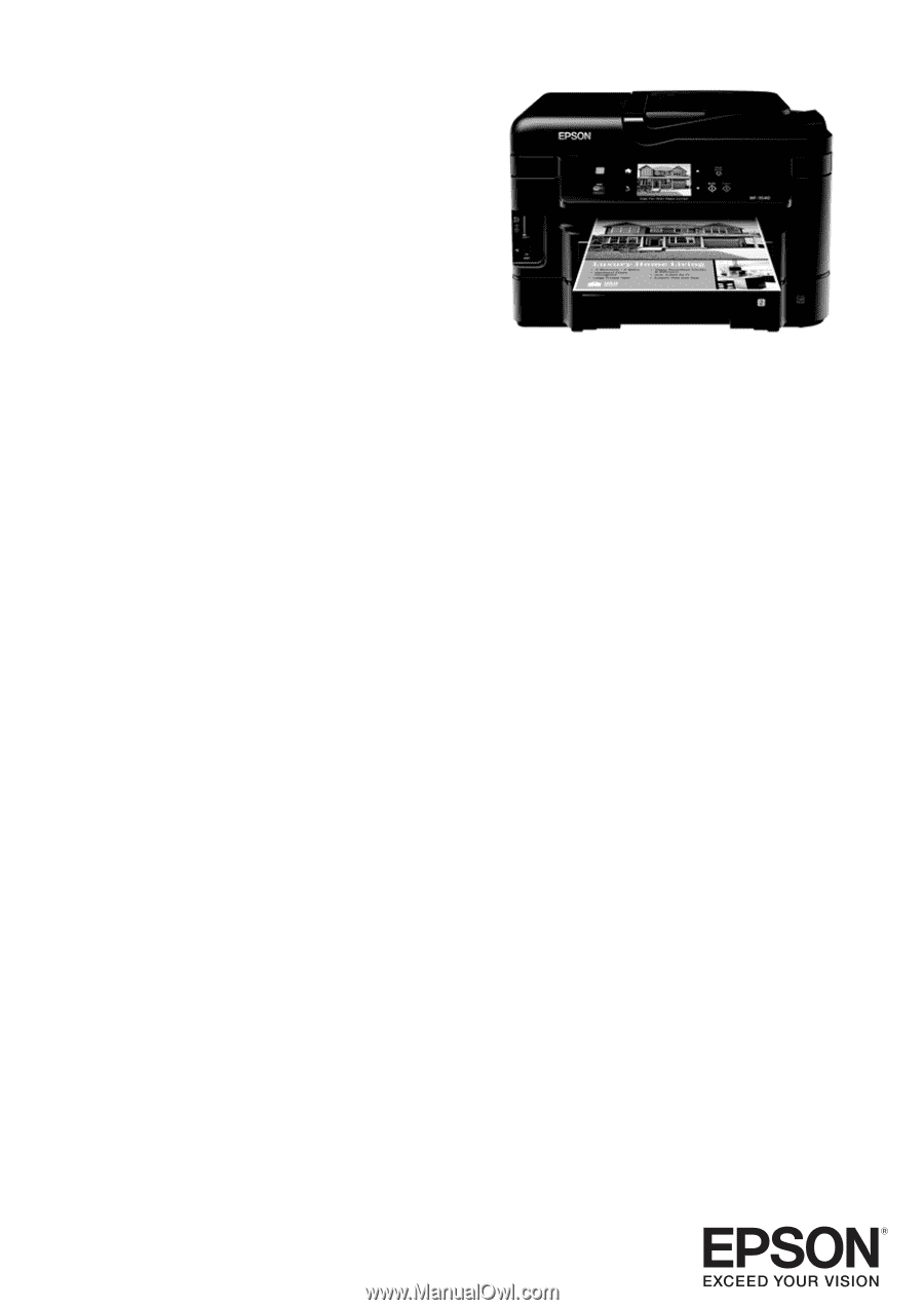 epson wf 3540 owners manual