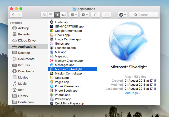 how to remove and manually install silverlight 2 for mac